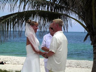 Chris and Chris saying I Do