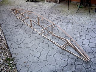 Side view of the rough finished PakYak Frame.