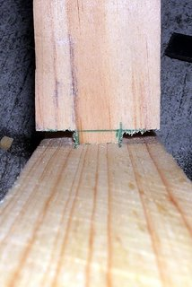 Mortise and Tenon wood joint.