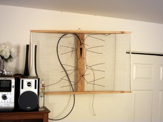 straight view of the DIY digital TV antenna