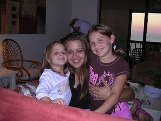 Katie and 2 of her neices Amber and Kayla.