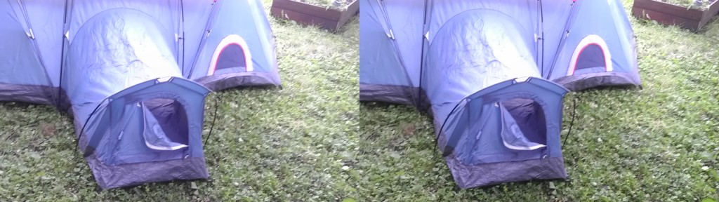 This is the 'doggy den' feature of the tent and a small dog-door